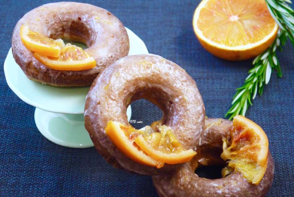 Brown Butter, Rosemary & Blood Orange Doughnuts